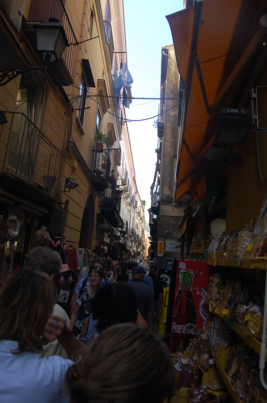 The streets...with people and lemons as far as the eye can see!